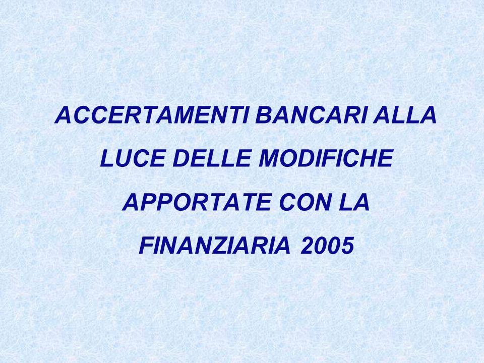 NOZIONE DI CONTO ANTE FINANZIARIA 2005 Si intende: Conto moviten- tabile fondato sul rapporto contrattuale tra banca e cliente.