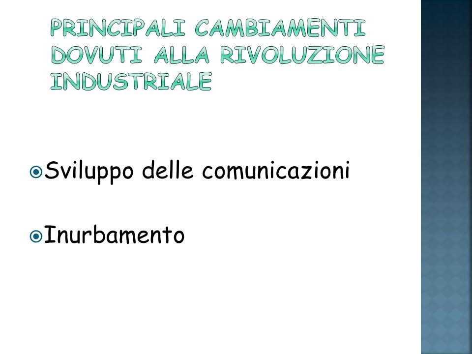 Sviluppo delle comunicazioni Inurbamento