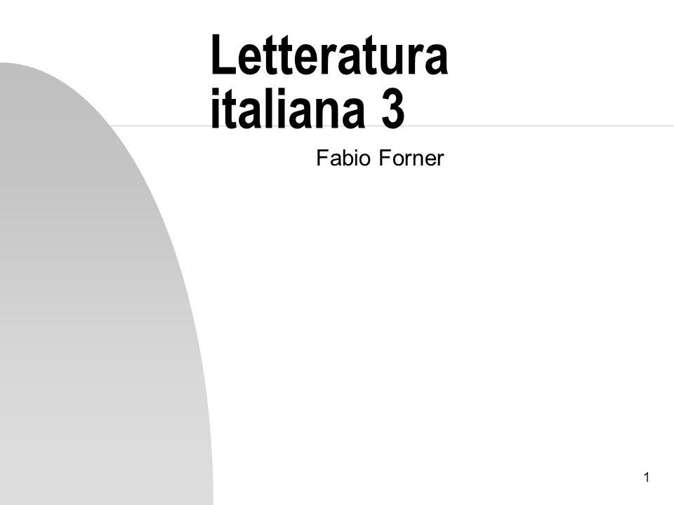 1 Letteratura italiana 3 Fabio Forner