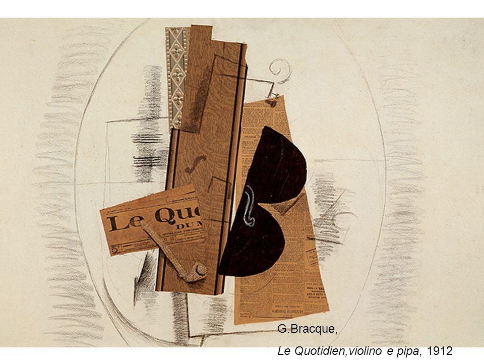 G.Bracque, Le Quotidien,violino e pipa, 1912