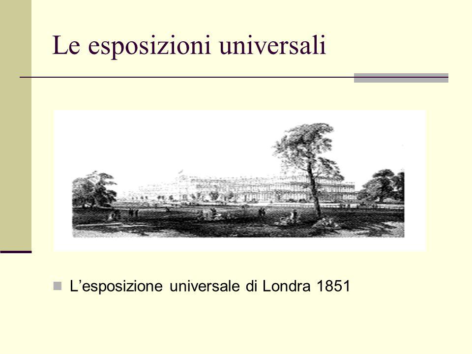 Le esposizioni universali Lesposizione universale di Londra 1851
