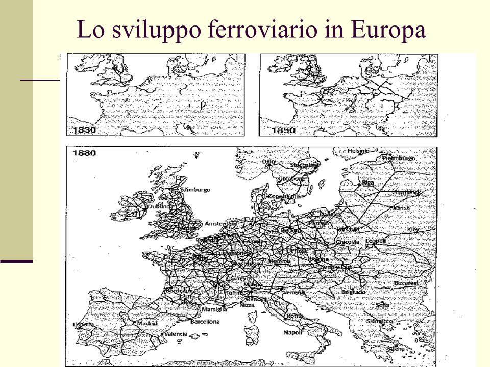 Lo sviluppo ferroviario in Europa