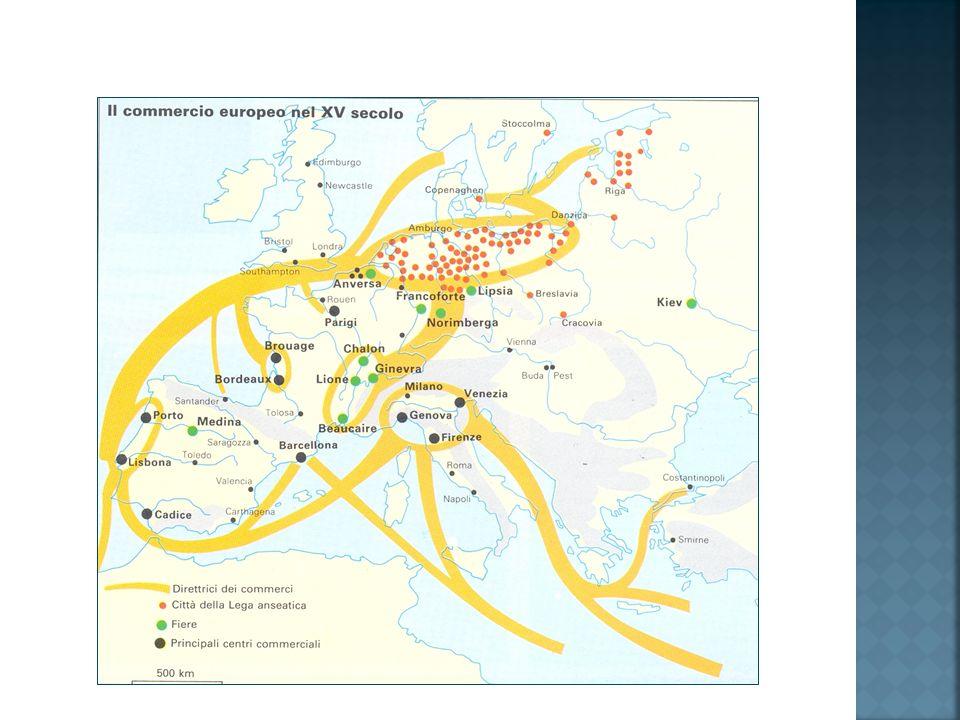 Nel 400 il quadro è decisamente cambiato.Costantinopoli e Cordova sono ormai declinate.