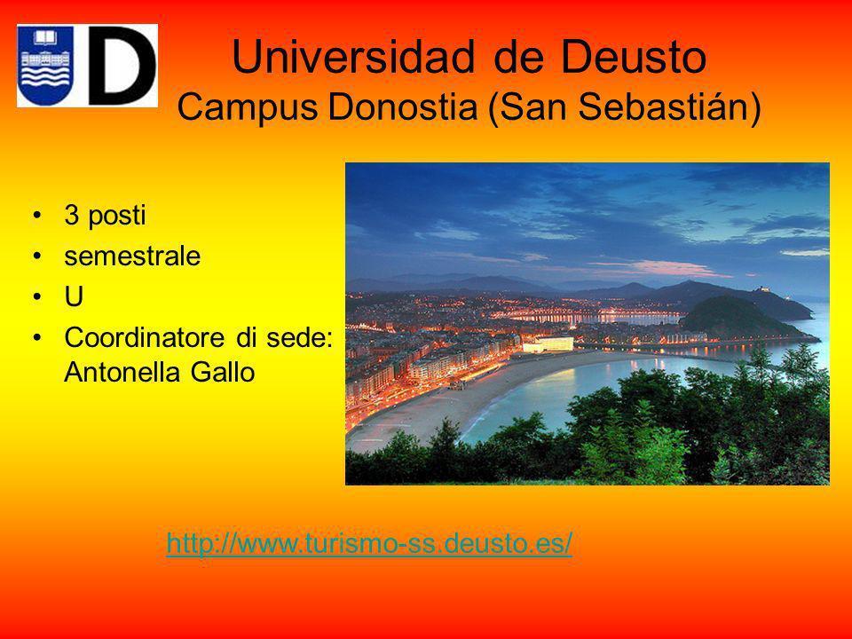 Universitat Jaume I Castelló de la Plana www.uji.es 3 posti semestrale U Coordinatore di sede: Andrea Zinato Corsi in catalano (valencià) e in spagnolo