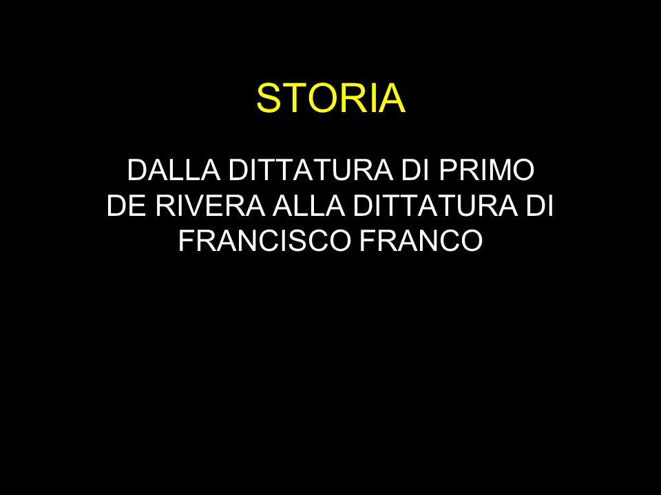 STORIA DALLA DITTATURA DI PRIMO DE RIVERA ALLA DITTATURA DI FRANCISCO FRANCO