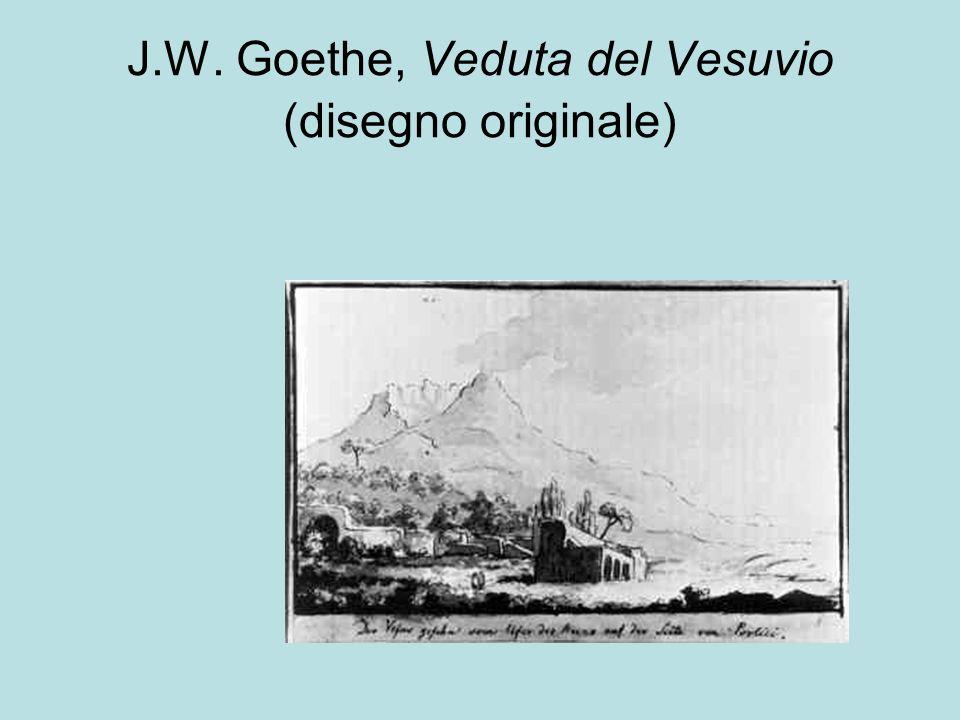 J.W. Goethe, Veduta del Vesuvio (disegno originale)