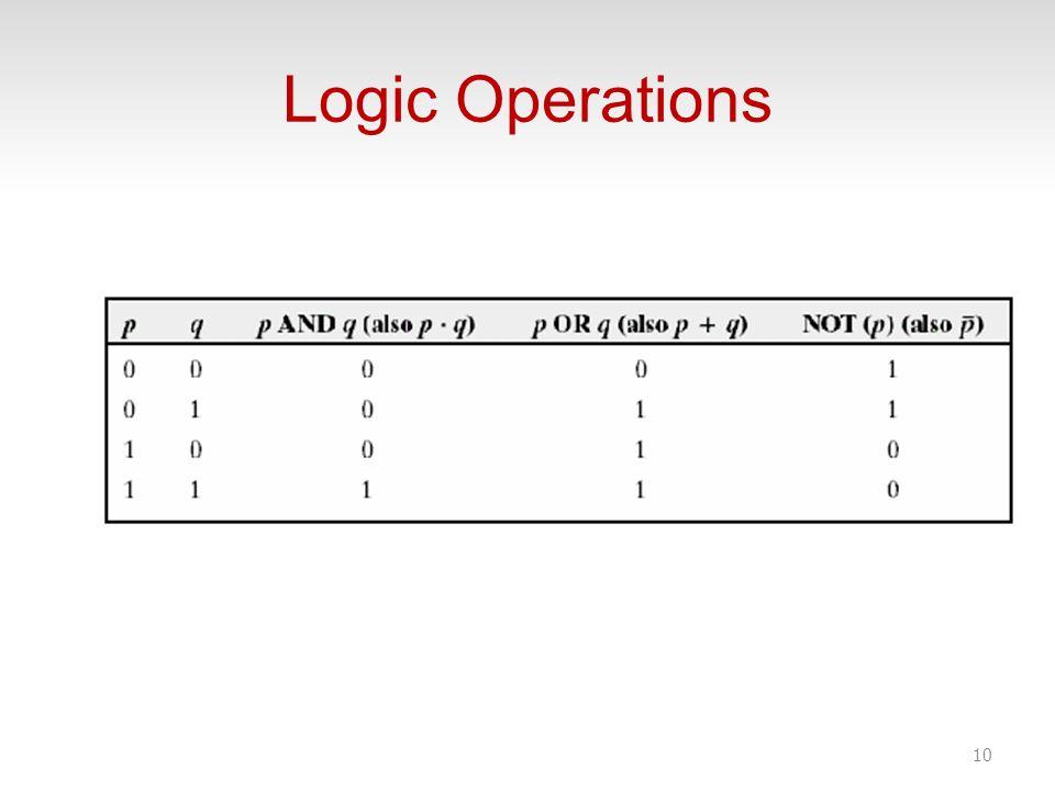 Logic Operations 10