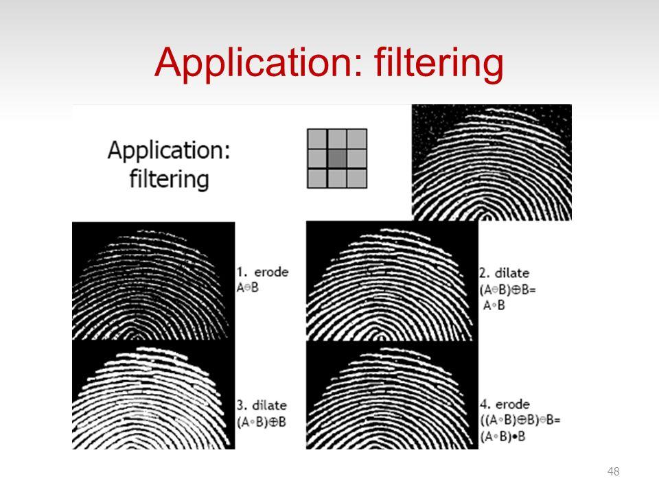 Application: filtering 48