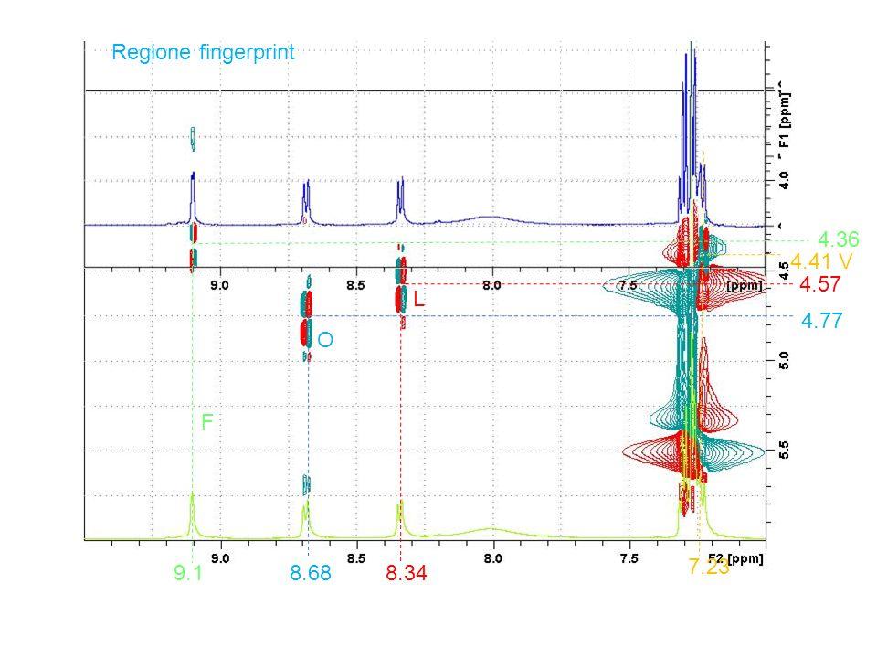 Regione fingerprint 4.36 4.41 V 4.57 4.77 8.688.349.1 7.23 F L O