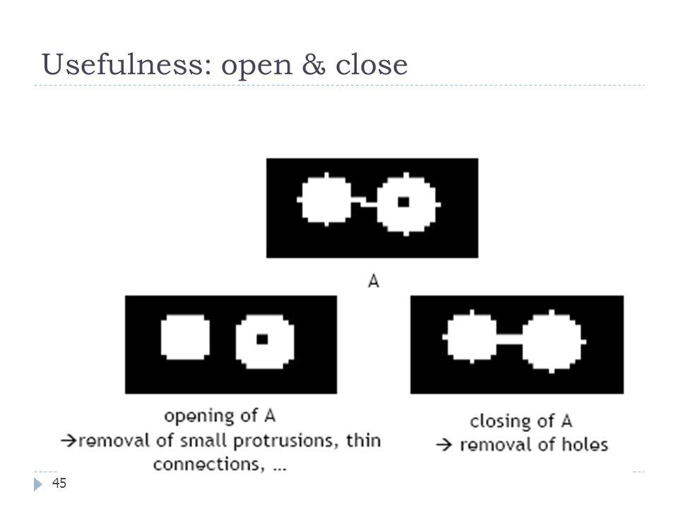 Usefulness: open & close 45