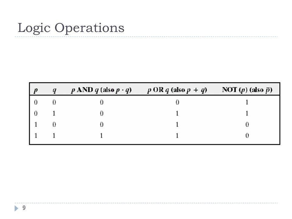 Logic Operations 9