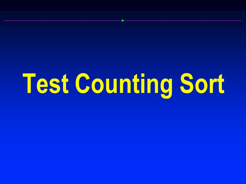 Test Counting Sort