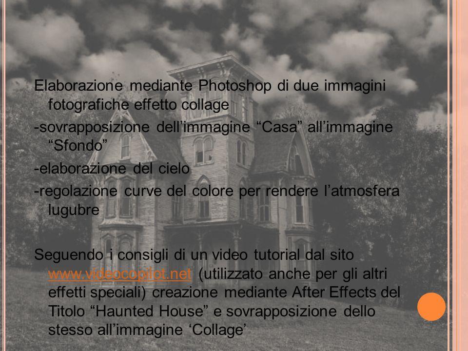 Elaborazione mediante Photoshop di due immagini fotografiche effetto collage -sovrapposizione dellimmagine Casa allimmagine Sfondo -elaborazione del c