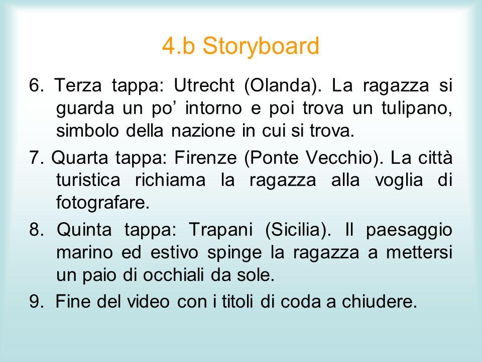 4.c Storyboard Tra una tappa e laltra del viaggio inserimento di una cartina in cui vengono segnalati gli spostamenti (applicazione possibile con iMovie).
