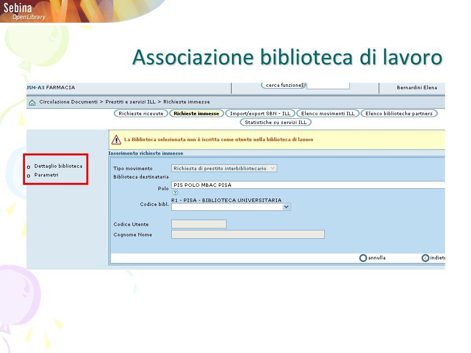 Associazione biblioteca di lavoro