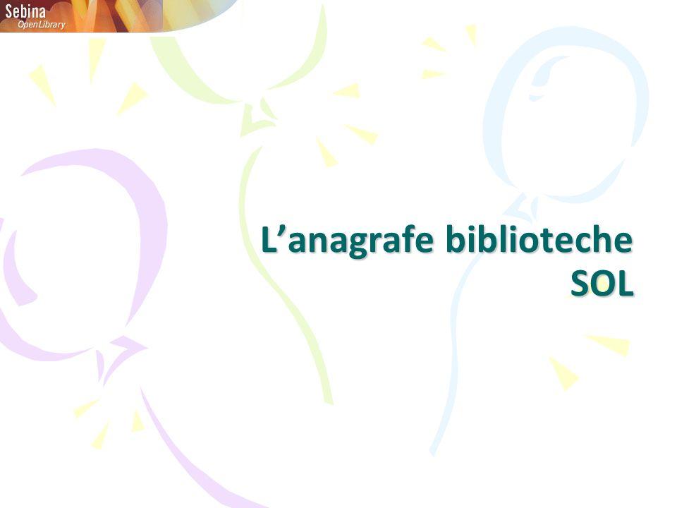 Lanagrafe biblioteche SOL