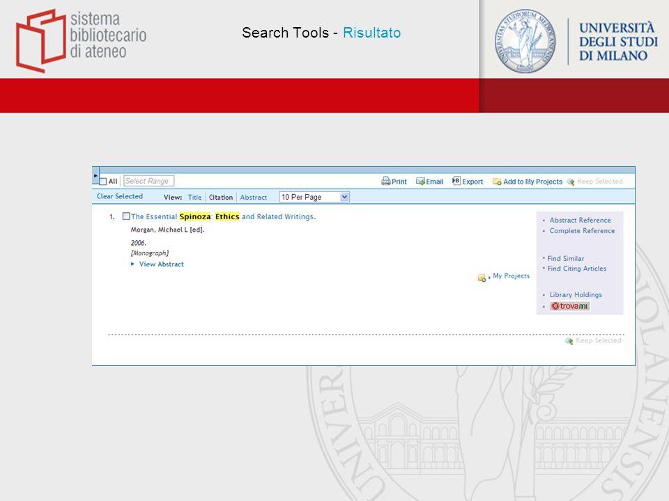 Search Fields Permette di avviare una ricerca utilizzando uno o più campi predefiniti.