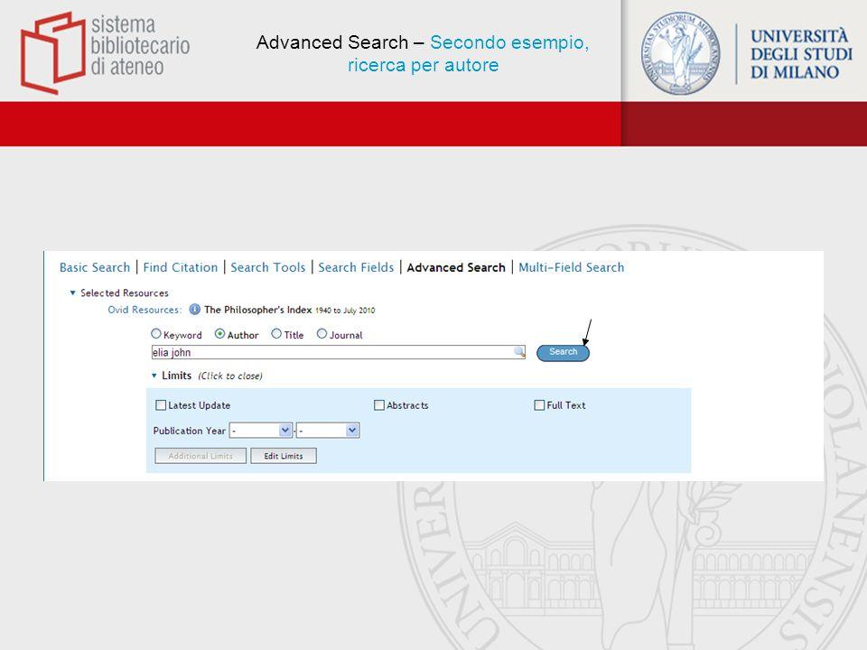 Advanced Search - Display