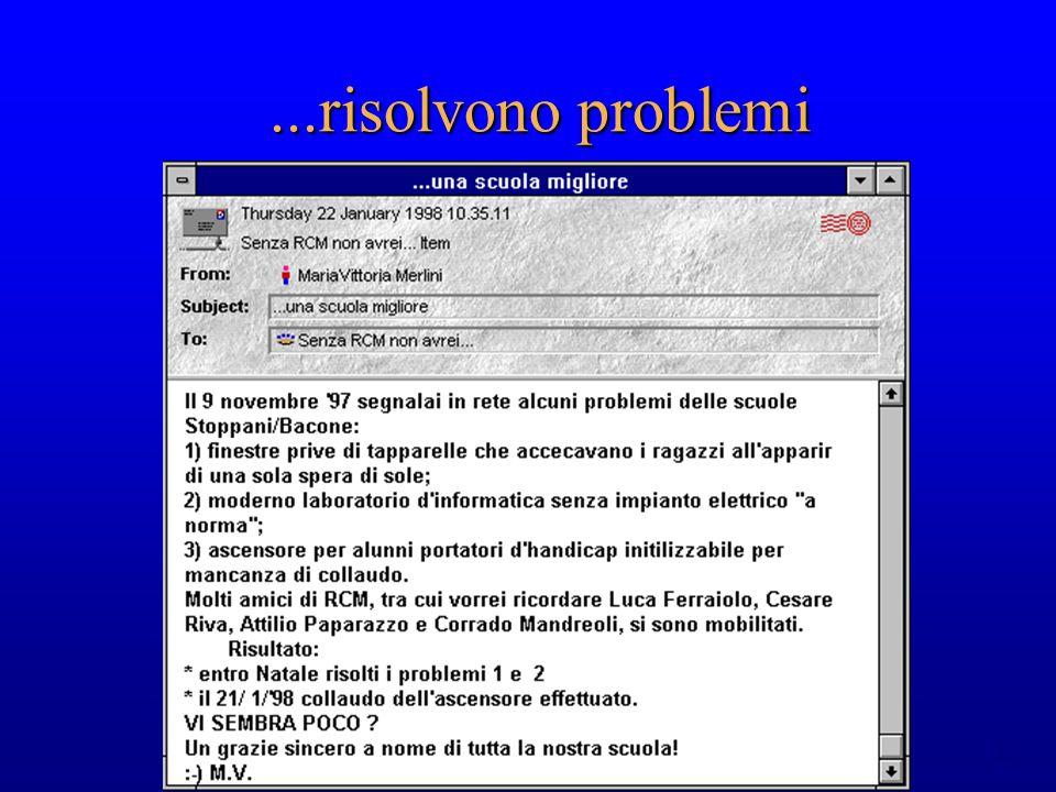 22...risolvono problemi