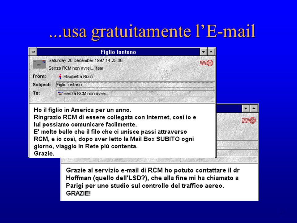 23...usa gratuitamente lE-mail