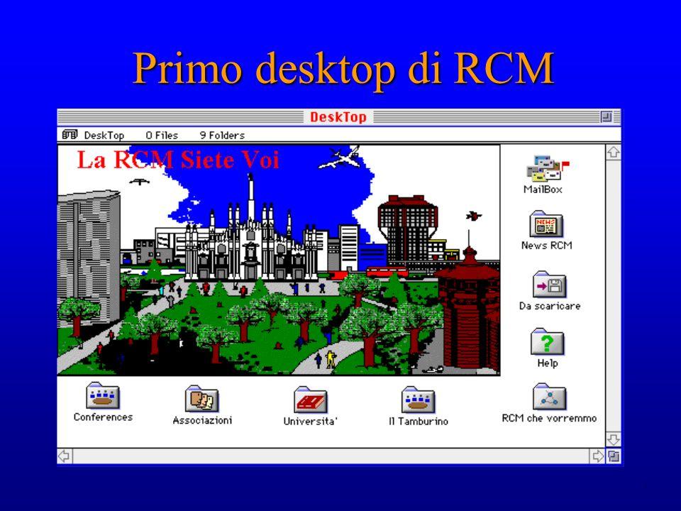 3 Primo desktop di RCM