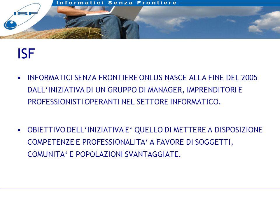 13 INFORMATICI SENZA FRONTIERE ONLUS NASCE ALLA FINE DEL 2005 DALLINIZIATIVA DI UN GRUPPO DI MANAGER, IMPRENDITORI E PROFESSIONISTI OPERANTI NEL SETTORE INFORMATICO.