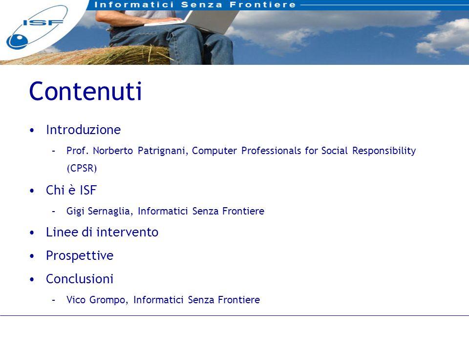 2 Contenuti Introduzione –Prof.
