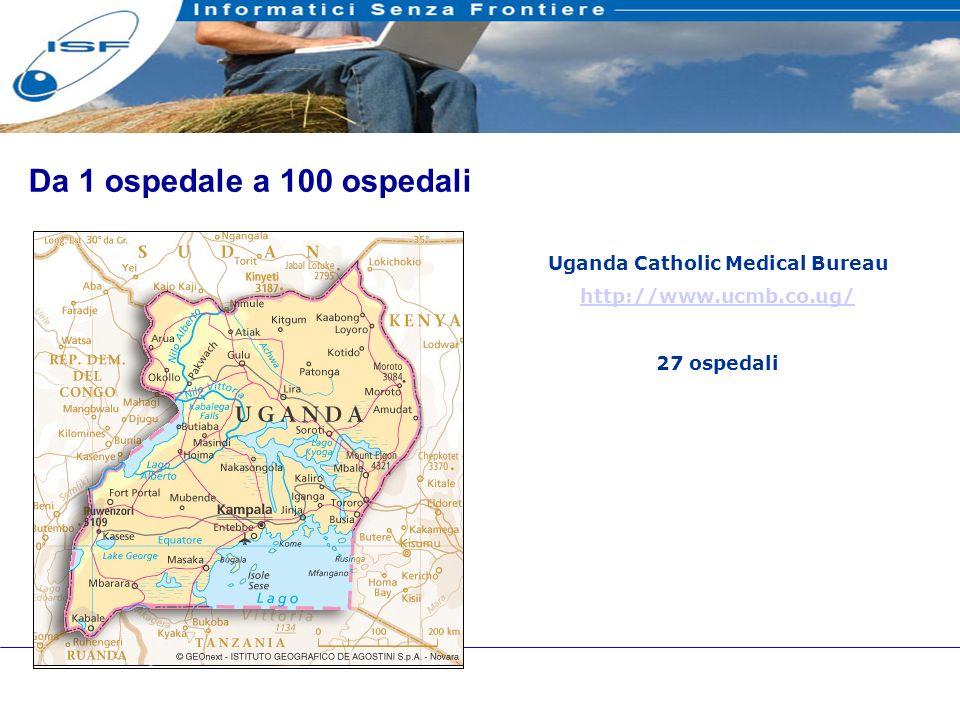 22 Da 1 ospedale a 100 ospedali Uganda Catholic Medical Bureau http://www.ucmb.co.ug/ 27 ospedali