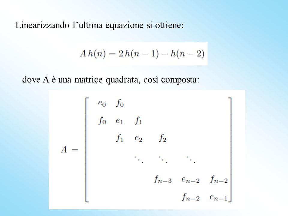 dove A è una matrice quadrata, così composta: