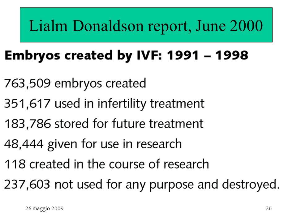 26 maggio 200926 Lialm Donaldson report, June 2000