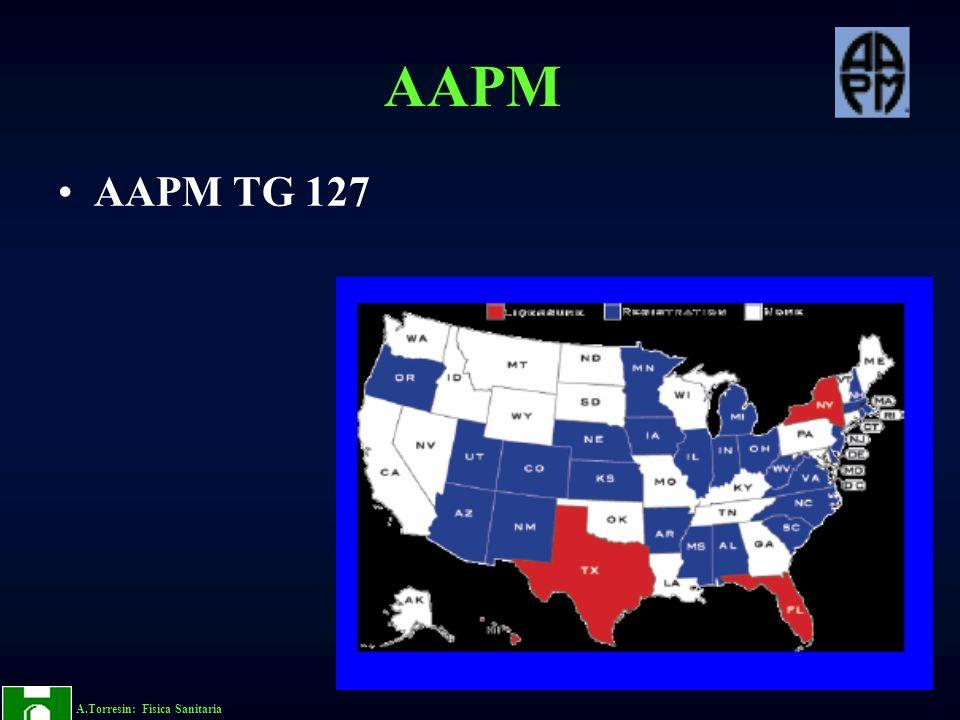 A.Torresin: Fisica Sanitaria AAPM AAPM TG 127