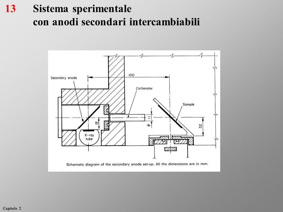 Sistema sperimentale con anodi secondari intercambiabili 13 Capitolo 2