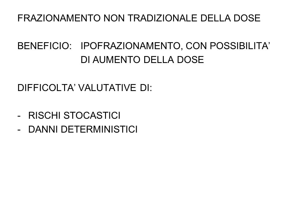 DECADE 40-49 10 5 donne (compliance 100%) annuale 2 proiezioni AGD j = 4,25 mSv detection rate medio 1% o detected= 1% o x 9 rounds x 10 5 =900 35 !840 !24 .