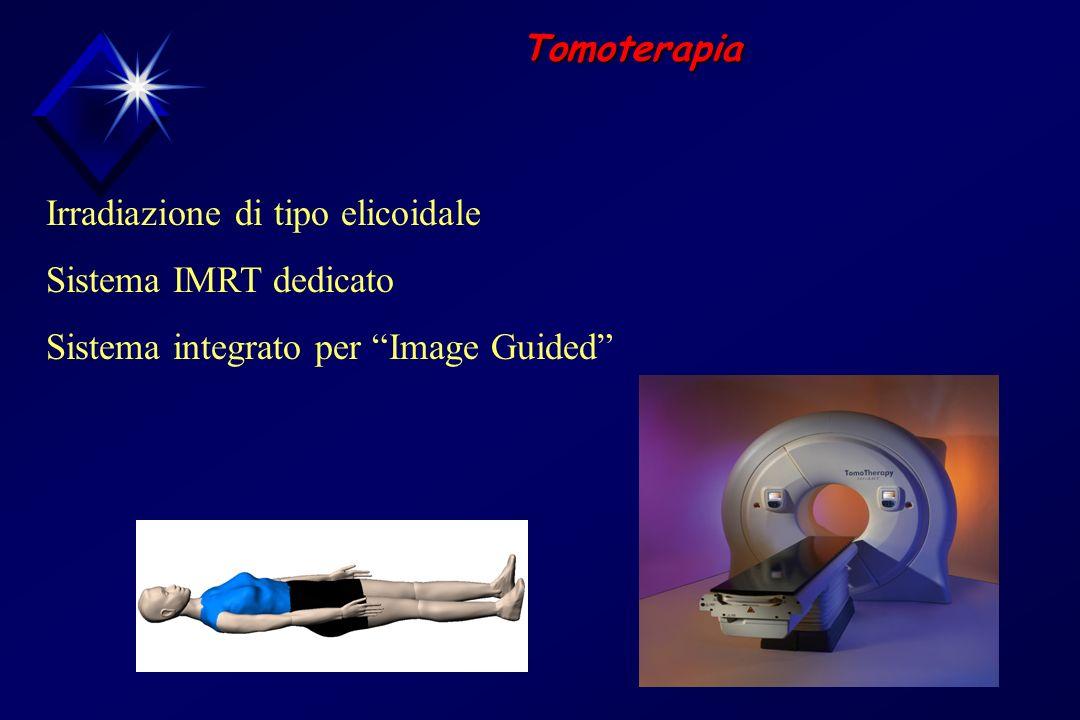 Tomoterapia Irradiazione di tipo elicoidale Sistema IMRT dedicato Sistema integrato per Image Guided