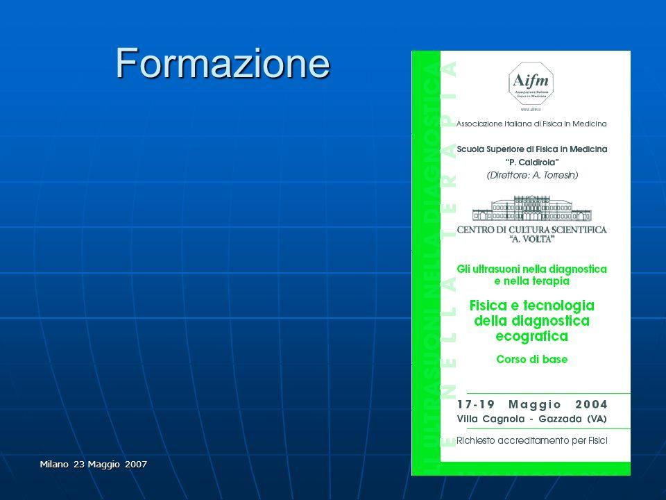 Milano 23 Maggio 2007 Formazione