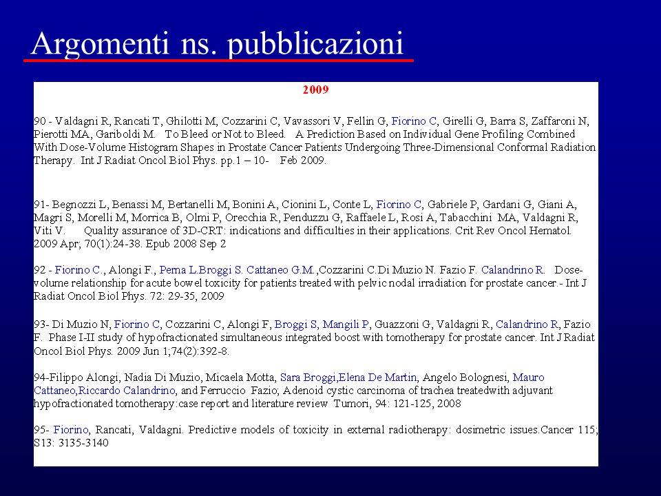 Argomenti ns. pubblicazioni