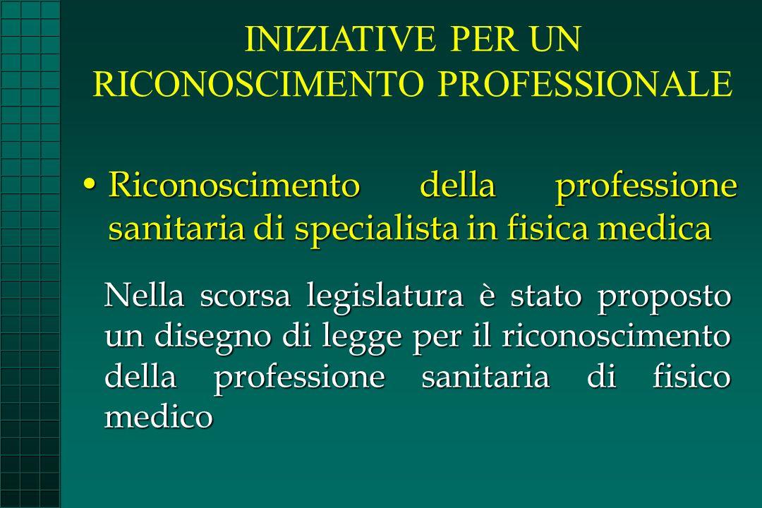 Riconoscimento della professione sanitaria di specialista in fisica medicaRiconoscimento della professione sanitaria di specialista in fisica medica N
