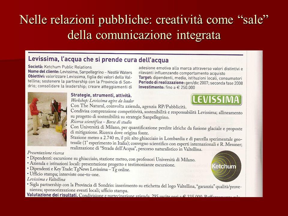 Nelle relazioni pubbliche: creatività come sale della comunicazione integrata