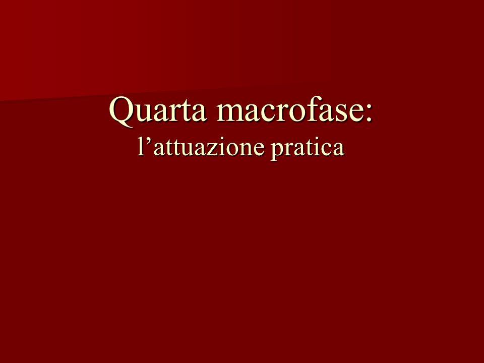 Quarta macrofase: lattuazione pratica