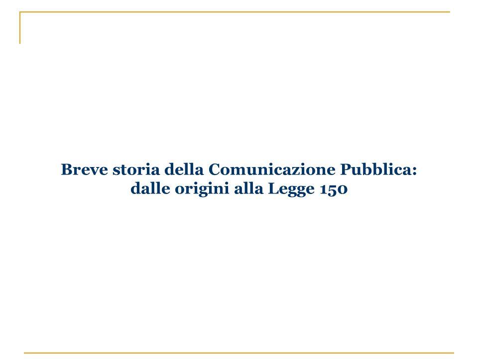 Breve storia della Comunicazione Pubblica: dalle origini alla Legge 150