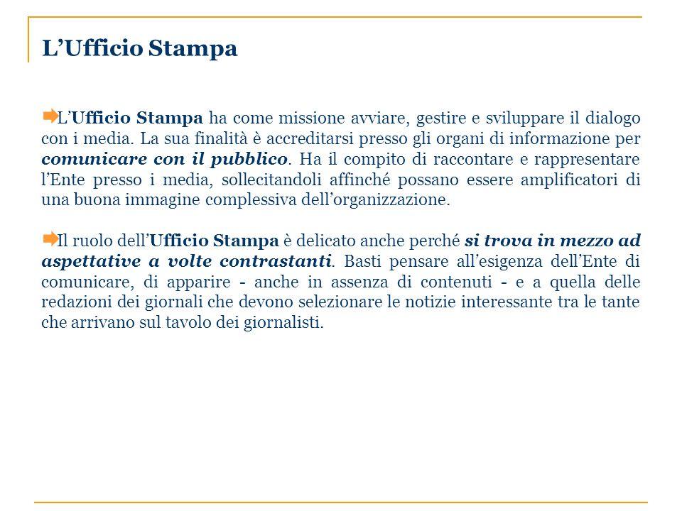 LUfficio Stampa ha come missione avviare, gestire e sviluppare il dialogo con i media.