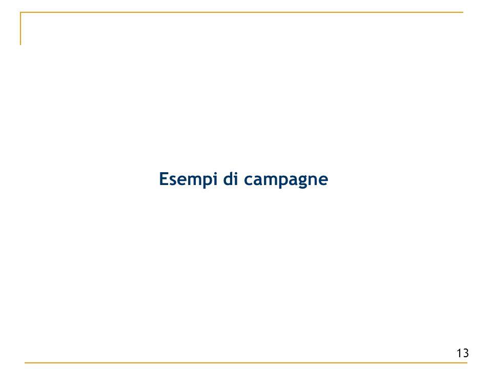 Esempi di campagne 13