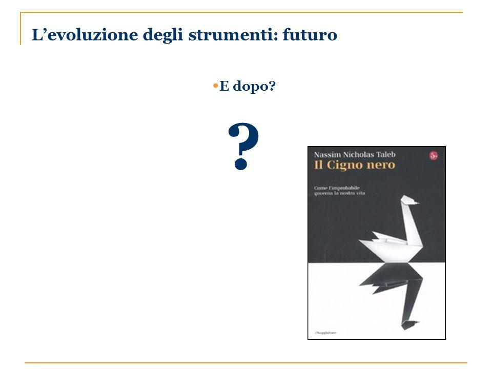 Levoluzione degli strumenti: futuro E dopo