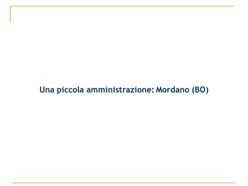 Una piccola amministrazione: Mordano (BO)