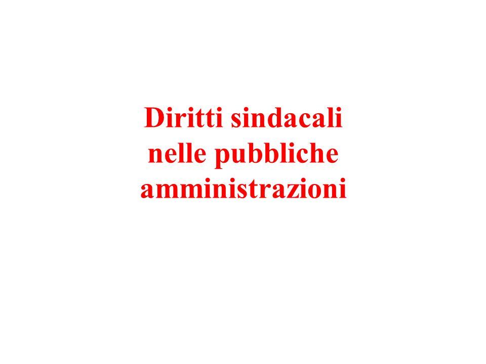 Diritti sindacali nelle pubbliche amministrazioni