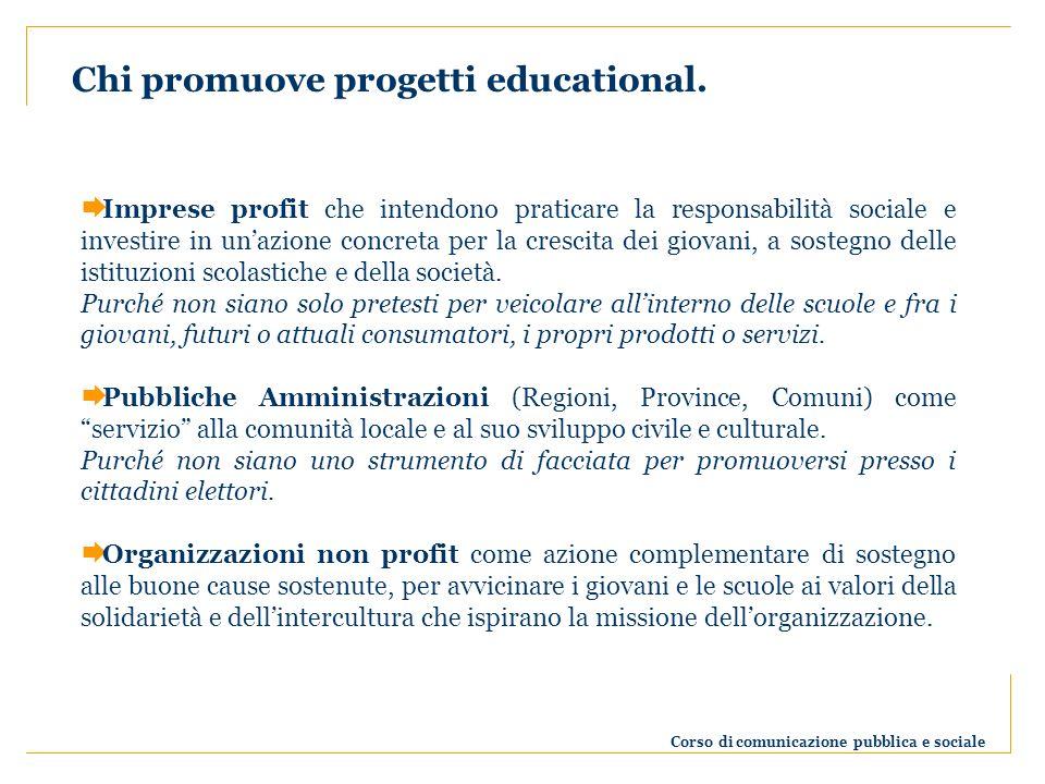 Chi promuove progetti educational.