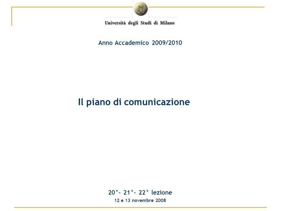 Cosa è un piano di comunicazione Il piano di comunicazione è uno strumento utilizzato da unorganizzazione per programmare le proprie azioni di comunicazione in un periodo di tempo definito.
