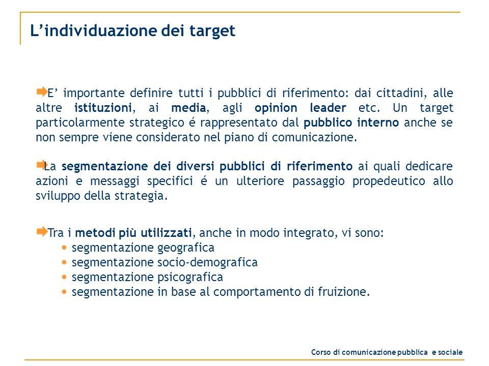 Limpostazione della strategia Dopo aver analizzato lo scenario, definito obiettivi e target, si deve procedere allelaborazione della strategia generale.