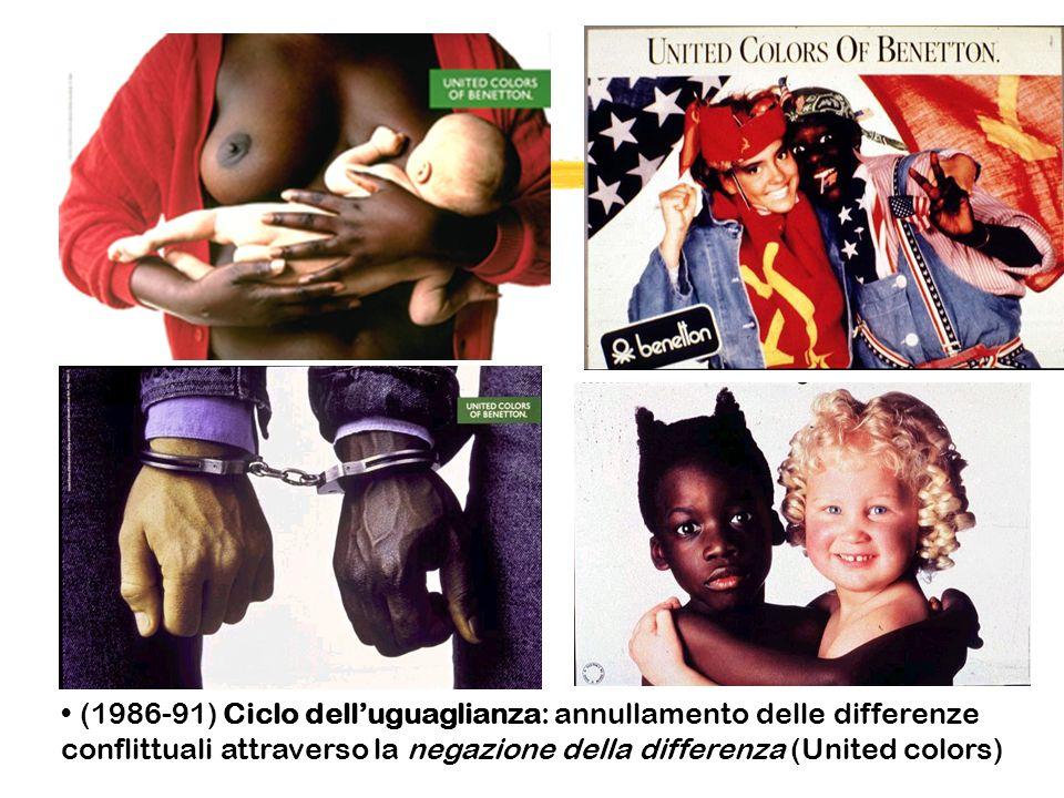 (1986-91) Ciclo delluguaglianza: annullamento delle differenze conflittuali attraverso la negazione della differenza (United colors)