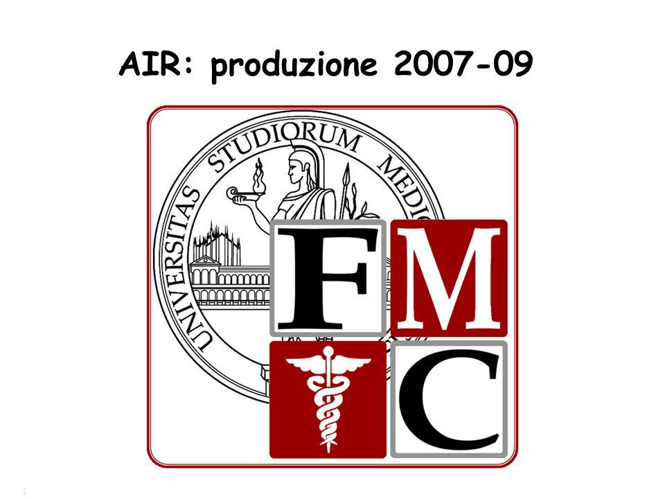 1 AIR: produzione 2007-09